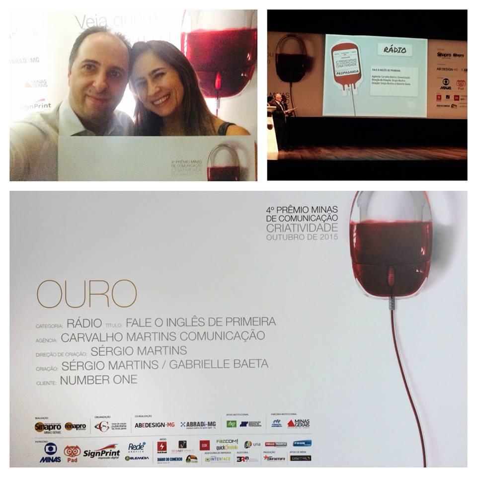 Sergio e Christian Martins recebem a premiação.